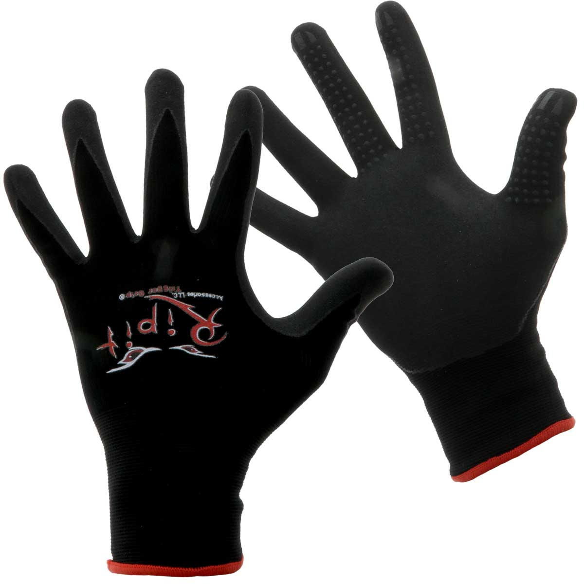 Rip-It Drywall Gloves With Trigger Grip - Black
