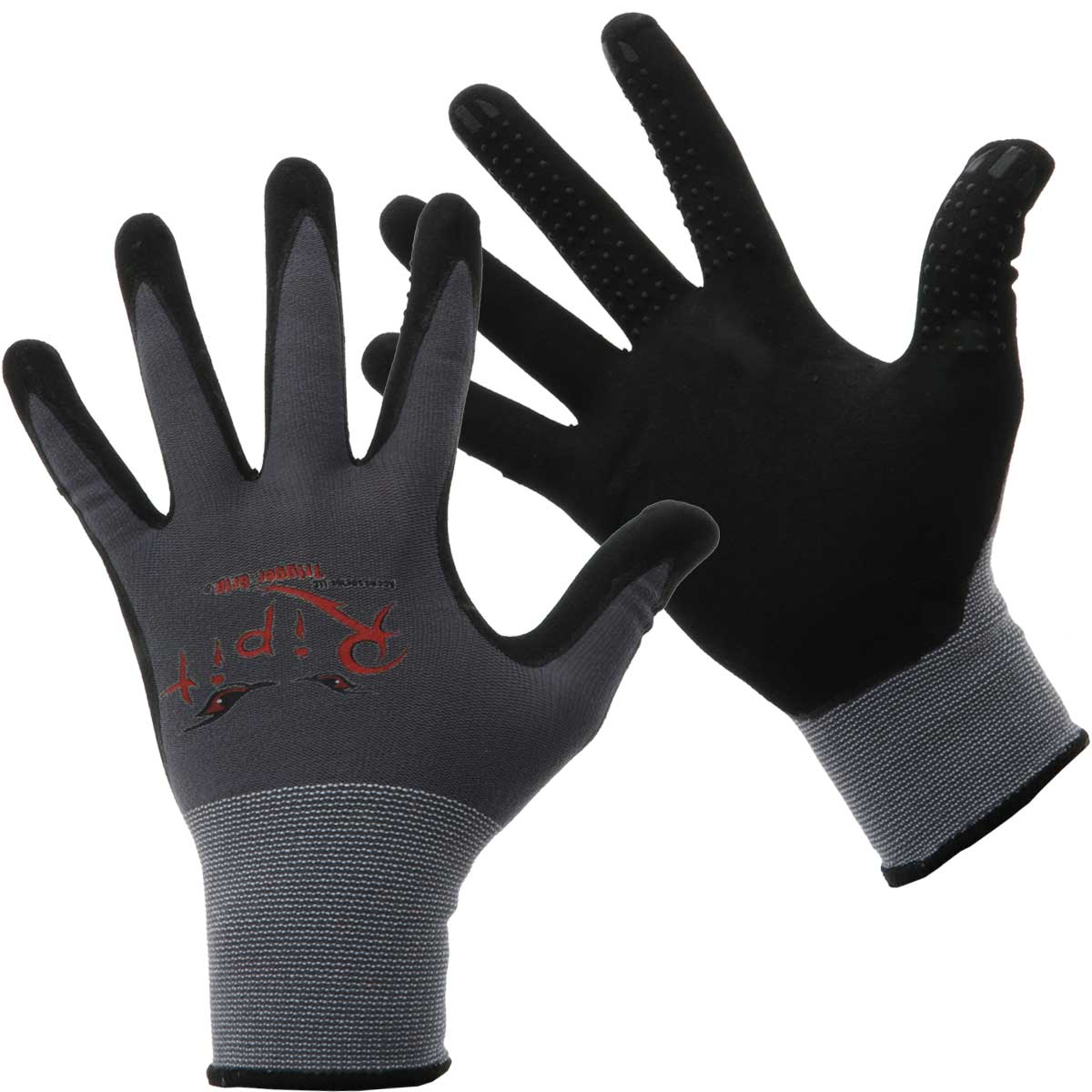 Rip-It Drywall Gloves With Trigger Grip - Grey