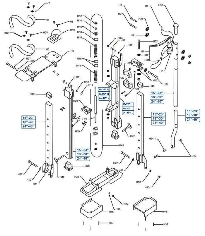 Sur-Mag Stilts Parts Diagram